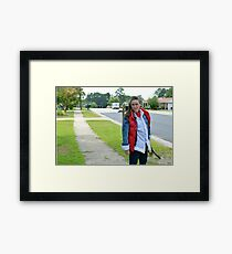 Back to the Future Marty McFly Cosplay Framed Print
