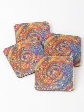 DeepDream abstraction Coasters