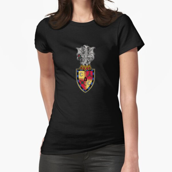 Dark Ages Clan Shield: Malkavian Fitted T-Shirt