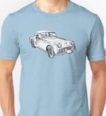 1957 Triumph TR3 Convertible Sports Car Illustration T-Shirt