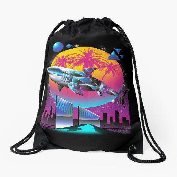 Rad Shark Drawstring Bag