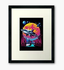 Rad Shark Framed Art Print