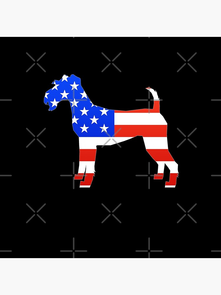 Irish Terrier -  American Flag Irish Terrier Silhouette by dog-gifts