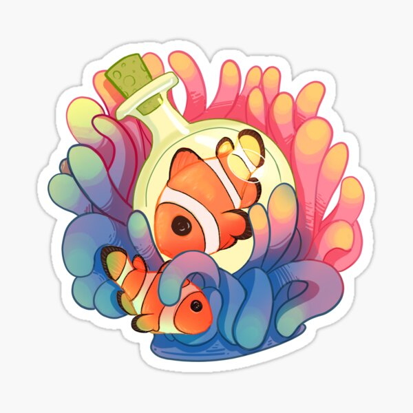 C is for Clownfish Sticker