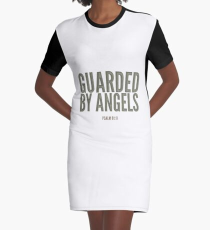 Guarded by angels - Psalm 91:11 Graphic T-Shirt Dress