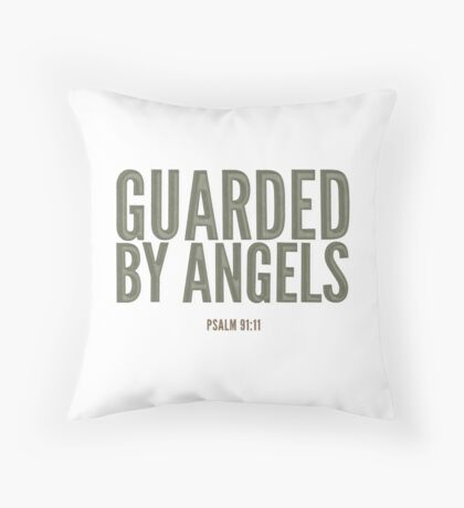 Guarded by angels - Psalm 91:11 Floor Pillow