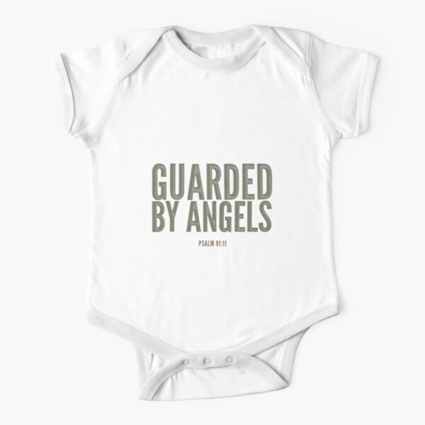 Guarded by angels - Psalm 91:11 Short Sleeve Baby One-Piece