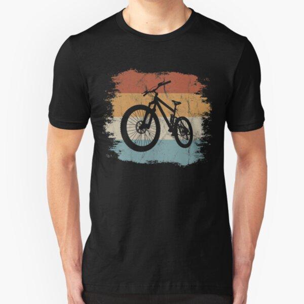 Retro Mountainbike | MTB Silhouette Radfahren Geschenk Slim Fit T-Shirt