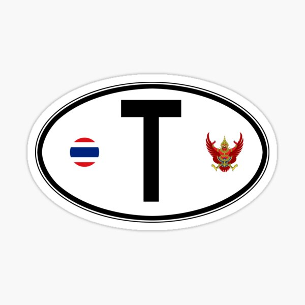 Thailand Oval Country Code Decal Sticker
