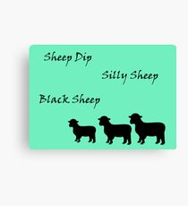 Black Sheep Art Card Canvas Print