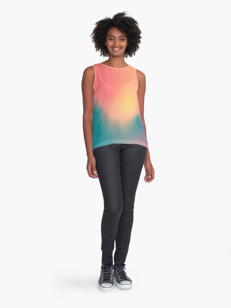 Alternate view of Abstract Gradient No. 5 Sleeveless Top