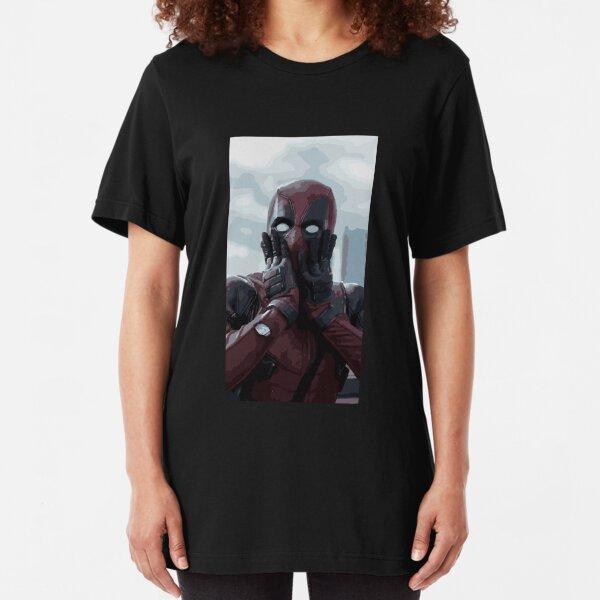 Deadpool Illustration Slim Fit T-Shirt