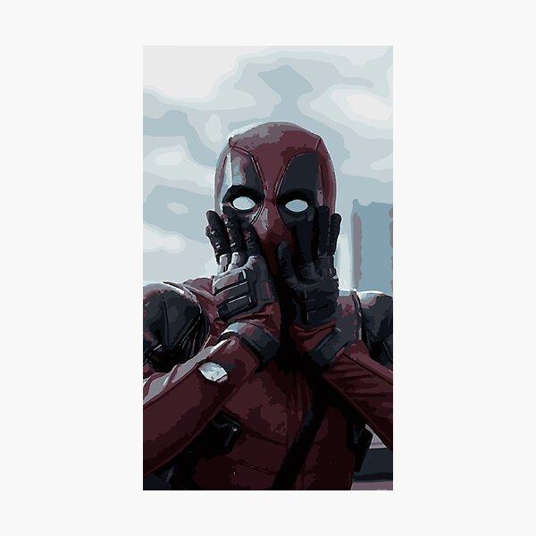 Deadpool Illustration Photographic Print
