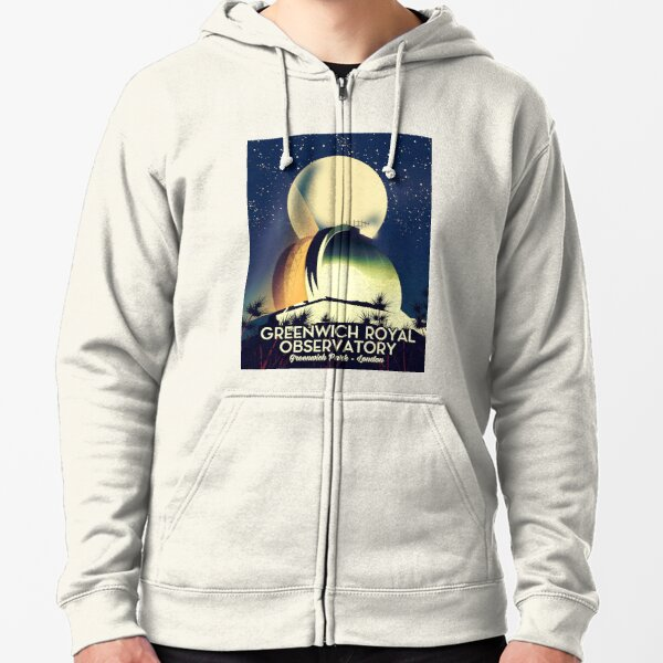 Royal Observatory Greenwich London Zipped Hoodie
