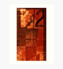 number 2 series: ~warm Red~ Art Print