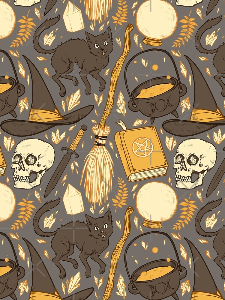 Witch Supplies in Warm Grey by paisleydrawrrs