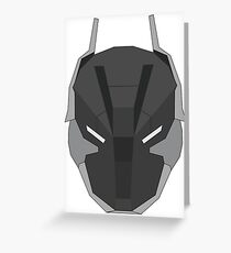Arkham Knight Mask Greeting Card