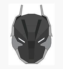 Arkham Knight Mask Photographic Print