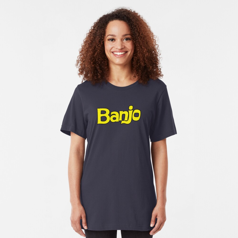 Banjo - retro biscuit wafer chocolate Slim Fit T-Shirt