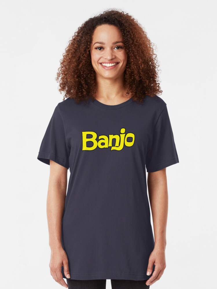 Alternate view of Banjo - retro biscuit wafer chocolate Slim Fit T-Shirt