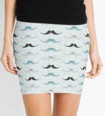 Vintage mustache pattern Mini Skirt