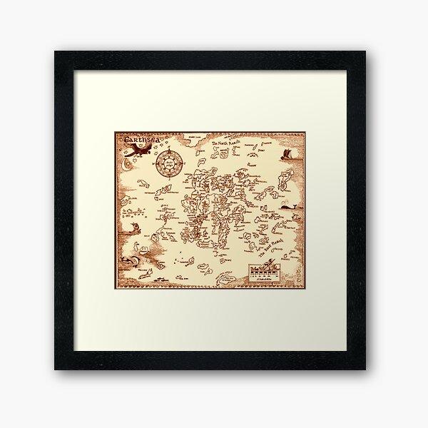 Earthsea Map Framed Art Print