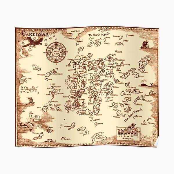 Earthsea Map Poster