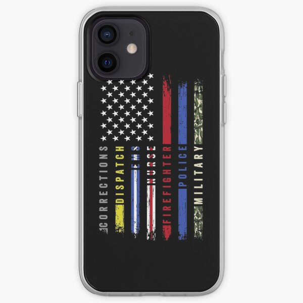 First Responders Hero Flag USA Thin Line Salute iPhone Soft Case