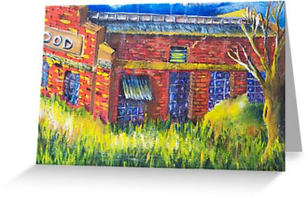 Spotswood Rail Yard - sunny day by MIchelle Thompson