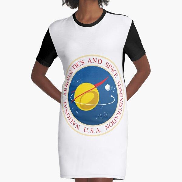 #Official #NASA #Seal USA National Aeronautics and #Space Administration Graphic T-Shirt Dress