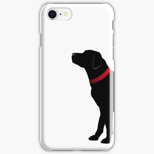 Black Labrador with Red Collar iPhone Snap Case