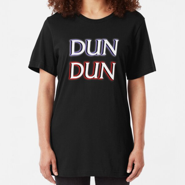 Dun Dun Meme (Law, Order, Parody) Slim Fit T-Shirt