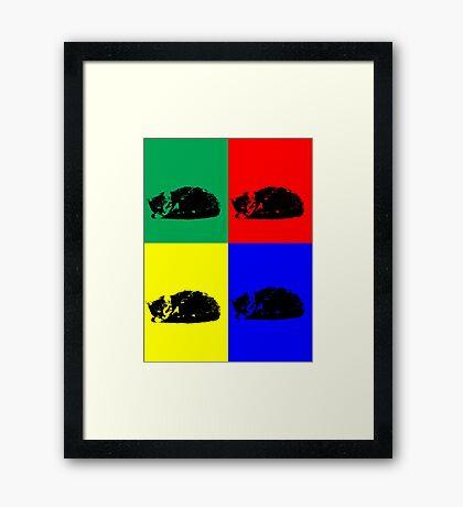 Pop Art Tabby Cat Framed Print