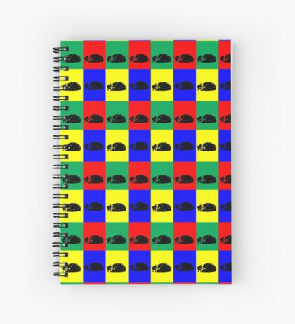 Pop Art Tabby Cat Spiral Notebook