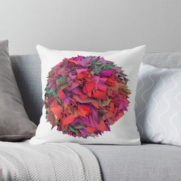 3d textures Throw Pillow