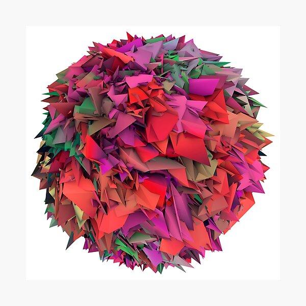 3d textures Photographic Print