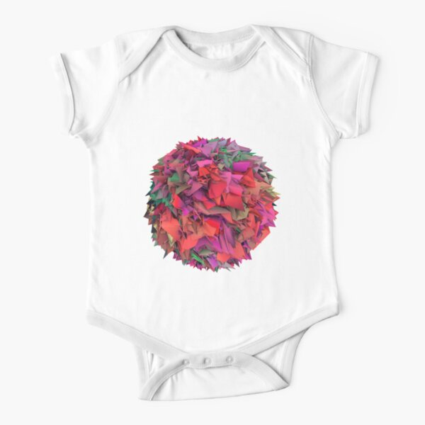 3d textures Short Sleeve Baby One-Piece