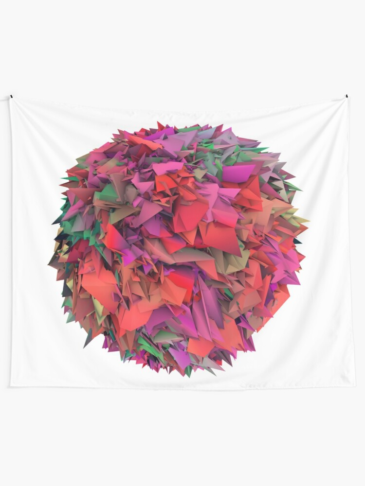 Alternate view of 3d textures Tapestry