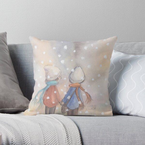 White future  Throw Pillow