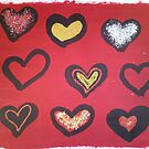 GLITTER HEARTS by donnah72