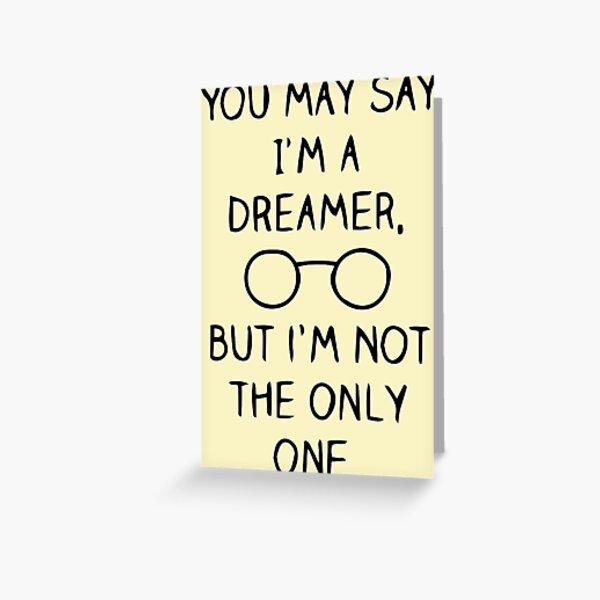 John Lennon Quote Greeting Card