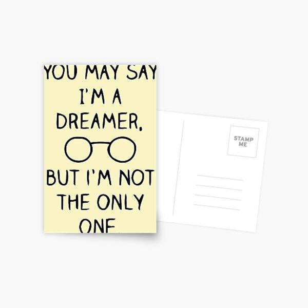 John Lennon Quote Postcard