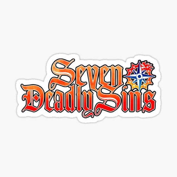 SEVEN DEADLY SINS - LOGO Sticker