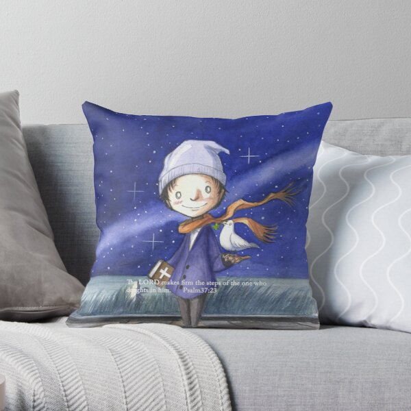 Waits for stardust Throw Pillow