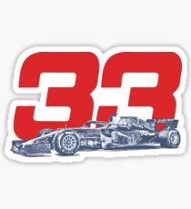 Verstappen 33 Sticker