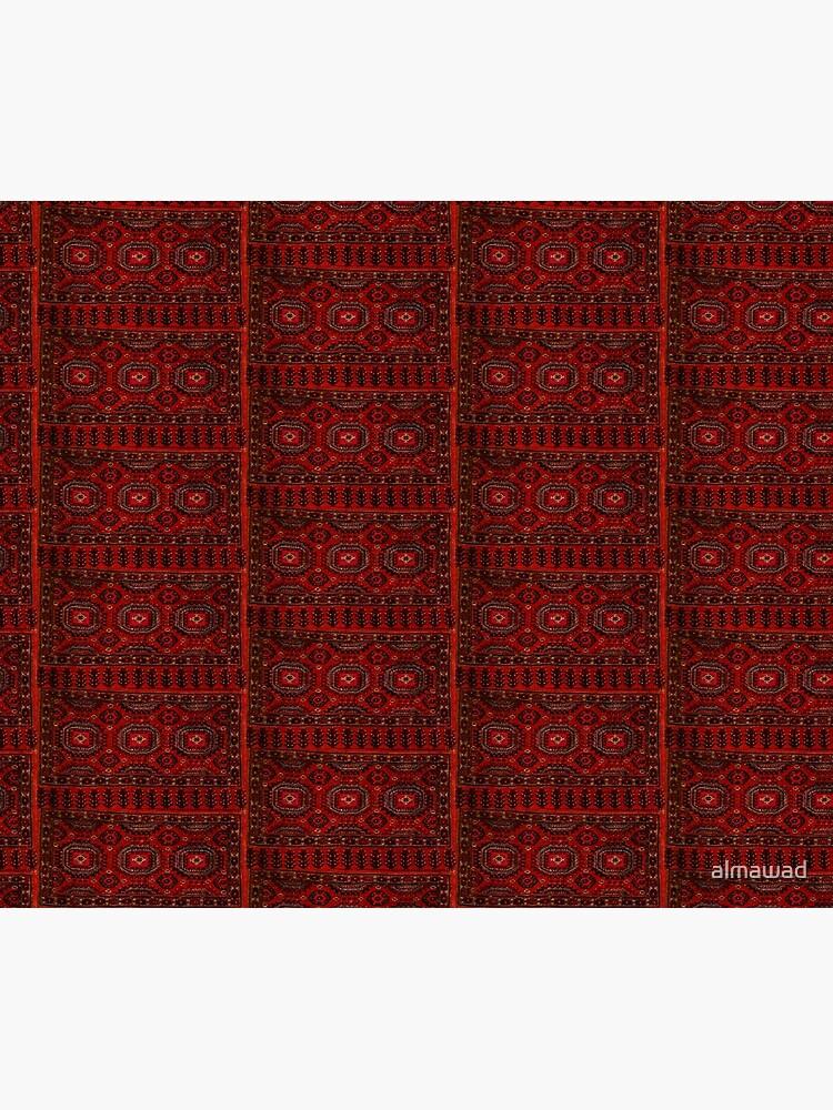 Red Oriental rug look  by almawad