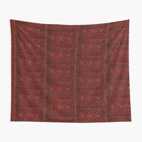 Red Oriental rug look  Tapestry