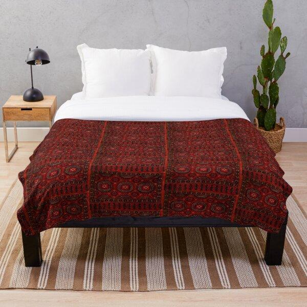 Red Oriental rug look  Throw Blanket