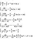 Some Indefinite Integrals by znamenski