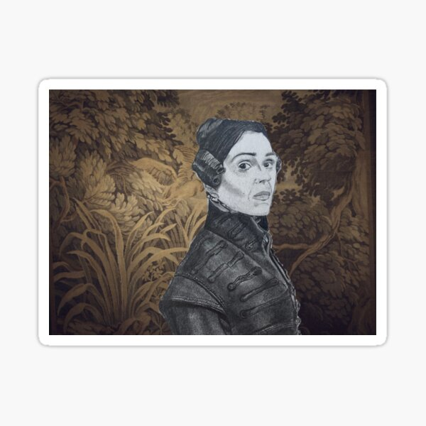 ANNE LISTER a.k.a. GENTLEMAN JACK - Graphite/Mixed Media Portrait Drawing Sticker
